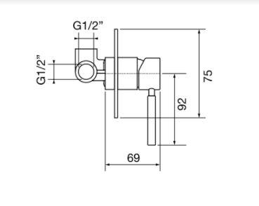 """אינטרפוץ-3-איטלקי-23137-שרטוט <span class=""""degem"""">דגם פורמה PortaBini S-23137 (במגוון צבעים)</span>"""