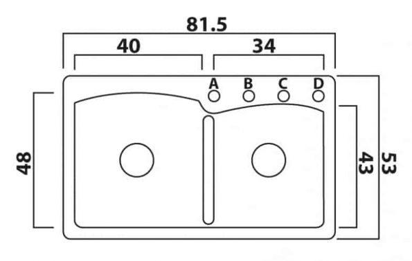 """אליפסה-שרטוט-62Fפרנקה-כיור-כפול <span class=""""degem"""">דגם 62F אליפסה SHR</span>"""