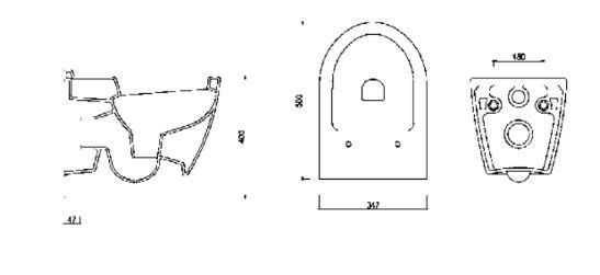 """אסלה-תלויה-אונו-שרטוט580400 <span class=""""degem"""">דגם UNO 50 SH 580400</span>"""
