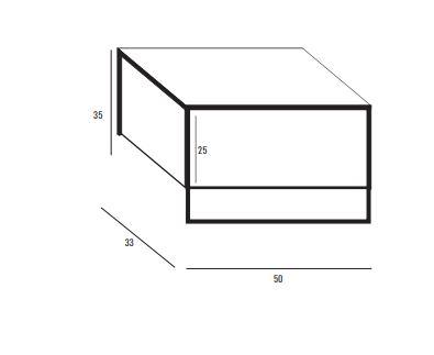 """ארון-אמבטיה-לשירותי-אורחים-מגנזיום-שרטוט <span class=""""degem"""">דגם מיני מגנזיום משולב מתכת D/R</span>"""