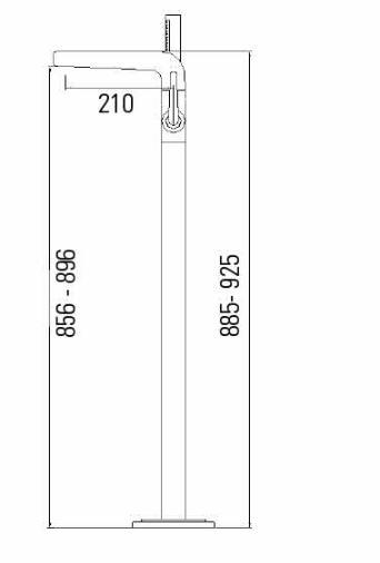 """ברז-רצפתי-שרטוט-51902-זהב <span class=""""degem"""">דגם 51902 זהב SNY</span>"""
