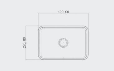 """כיור-בטון-קטן-שרטוט-40-28 <span class=""""degem"""">דגם כיור מלבני 28/ 40 ס""""מ PEZZI צבע בטון sb1027</span>"""