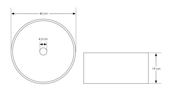 """כיור-בטון-רונדו-560102-שרטוט <span class=""""degem"""">דגם רונדו - 560102 קוטר 40 ס""""מ SH</span>"""