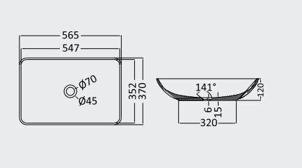 """כיור-בטון-שוקת-שרטוט-58-36 <span class=""""degem"""">דגם כיור שוקת (מבחר צבעים) PE SB1001</span>"""