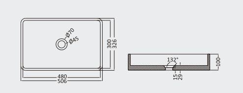 """כיור-בטון-שרטוט-מלבני-50-32 <span class=""""degem"""">דגם מלבני (מבחר צבעים) PE SB1004</span>"""