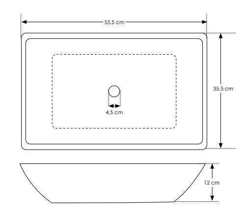 """כיור-בטון-560100-שרטוט <span class=""""degem"""">דגם 560100 בטון שוקת SH</span>"""