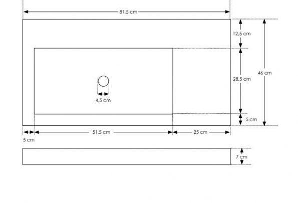 """כיור-בטון-560101-שרטוט-מלבן <span class=""""degem"""">דגם 560101XXL מלבני 82 ס""""מ SH</span>"""