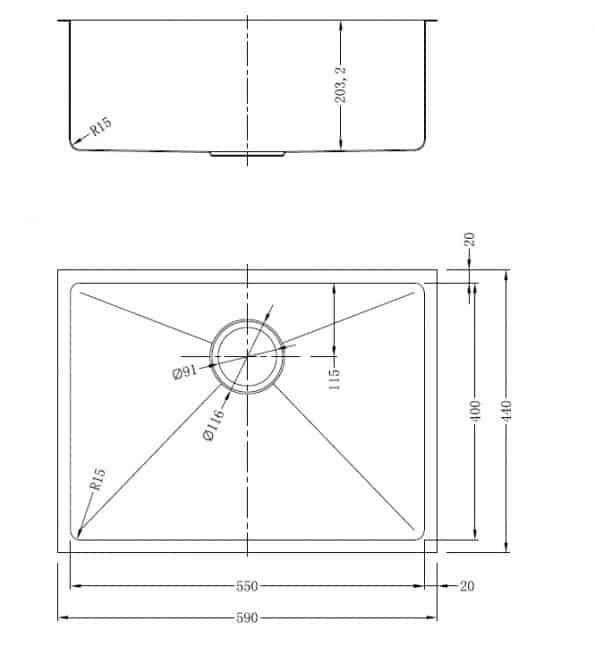 """כיור-וניל-GDF-5944-RF <span class=""""degem"""">דגם וניל כסוף SHONY</span>"""