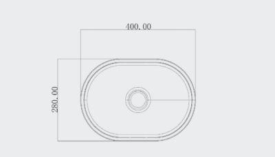 """כיור-מבטון-צר-40-28 <span class=""""degem"""">דגם אובלי (מבחר צבעים) PE sb1024</span>"""