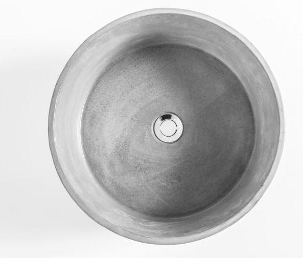 """כיור-מבטון-רונדו-560102 <span class=""""degem"""">דגם רונדו - 560102 קוטר 40 ס""""מ SH</span>"""