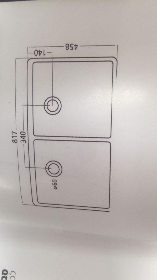 """כיור-מטבח-חרס-512-כפול-חרסה <span class=""""degem"""">דגם כיור מטבח כפול 46\82 חרסה דגם 512</span>"""
