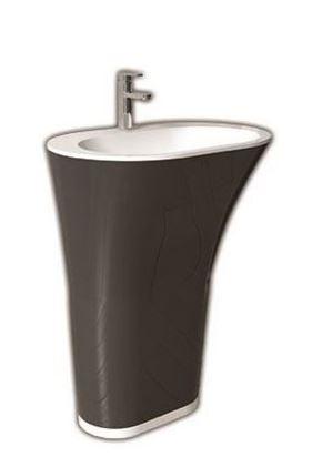 """כיור-עומד-ליסבון <span class=""""degem"""">דגם ליסבון שחור לבן 63 ס""""מ EL</span>"""
