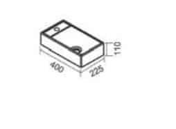 """כיור-שרטוט-פטיט <span class=""""degem"""">דגם פטיט 40/22.5 ס""""מ SH534403</span>"""