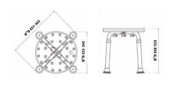 """כסא-מתכוונן-למקלחת-שרטוט <span class=""""degem"""">דגם SC- BEST - כסא מתכוונן למקלחת</span>"""