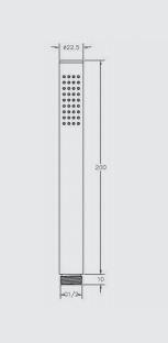 """מזלף-עגול-ניקל-שרטוט <span class=""""degem"""">דגם 460305 שחור מט</span>"""