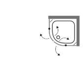 """מקלחון-מעוגל-שרטוט-לורנס <span class=""""degem"""">דגם BR 92 - מקלחון מעוגל דלתות על ציר</span>"""