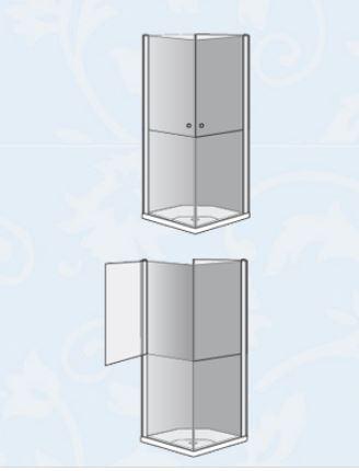 """מקלחון-פינתי-לוקס-בהזמנה-שרטוט <span class=""""degem"""">דגם LUX 6008</span>"""
