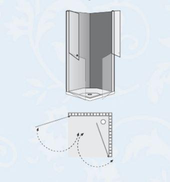 """מקלחון-פינתי1-לוקס-בהזמנה-שרטוט <span class=""""degem"""">דגם LUX 6008</span>"""