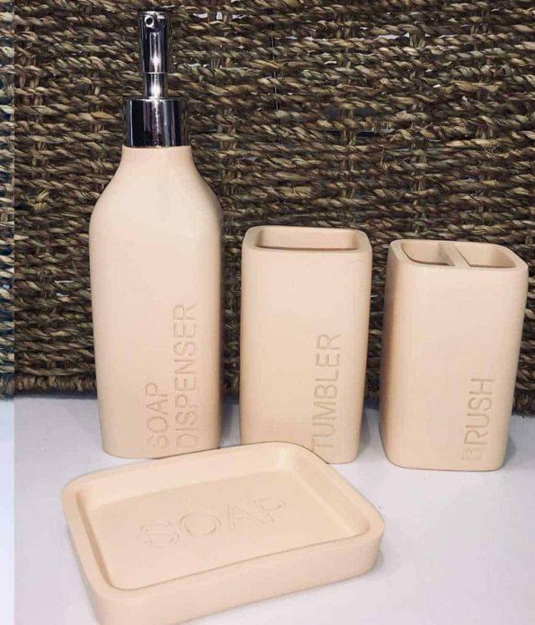 """סט-אביזרים-מונח-לאמבטיה-דמוי-בטון <span class=""""degem"""">דגם אביזרים לאמבטיה - בטון (צבעים)</span>"""