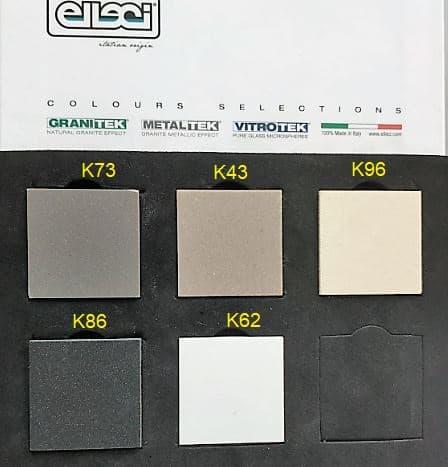 """צבעים-לכיור-מטבח-אליצי <span class=""""degem"""">דגם פלוראנס 455 ELLECI איטליה גרניט/קראטק</span>"""