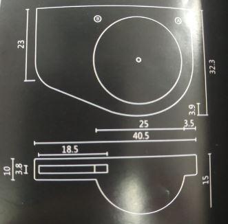 """קומפק-שרטוט-כיור-נטילת-ידיים <span class=""""degem"""">דגם קומפק - 40.5/32.3 ס""""מ מיטרני</span>"""