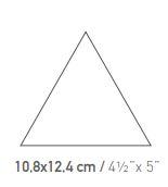 """קרמיקה-משולש-לקיר-שרטוט <span class=""""degem"""">דגם קרמיקה 10,8x12,4 cm משולש</span>"""