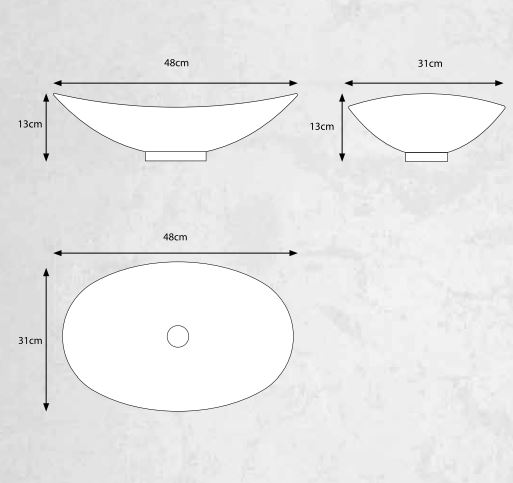 "שרטוט-כיור-זכוכית-אובלי-אביטל <span class=""degem"">דגם אביטל 48 ס""מ GOLD</span>"