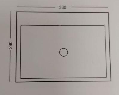 """שרטוט-כיור-קטן-7013 <span class=""""degem"""">דגם כיור 7013 לבן 33/29 ס""""מ SHR</span>"""