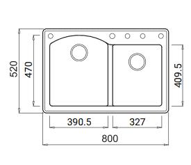 "875 AMALFI ש <span class=""degem"">דגם אמאלפי 875 ELLECI איטליה גרניט/קראטק</span>"