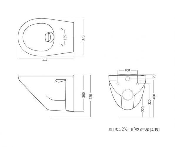 "972-dimensions <span class=""degem"">דגם אסלה תלויה קליר רימלס 502016</span>"