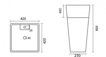 "WB-08809-2 <span class=""degem"">דגם WB - 08809GR כיור אבן מעוצב SHR</span>"
